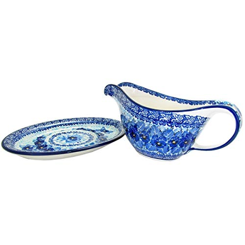 Polish Pottery Handmade Gravy Pitcher with Saucer 239-U3639-M.Starzyk by Great2bHome Polish Pottery and Unique Gifts (Image #2)