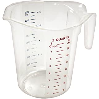 Winco Measuring Cup, Polycarbonate, 2-Quart, Clear