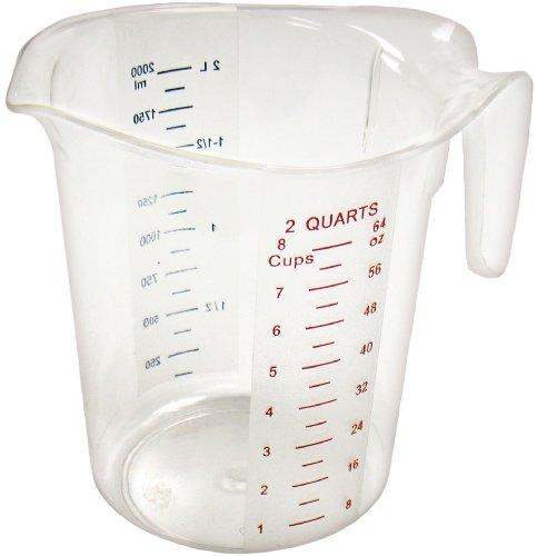 Winco Measuring Cup, Polycarbonate, 2-Quart