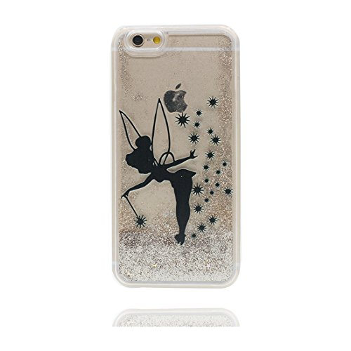 """iPhone 7 Plus Coque, iPhone 7 Plus étui Cover 5.5"""", Bling Bling Glitter (Petite fée Cute) Fluide Liquide Sparkles Sables, iPhone 7 Plus Case, Shell anti- chocs"""