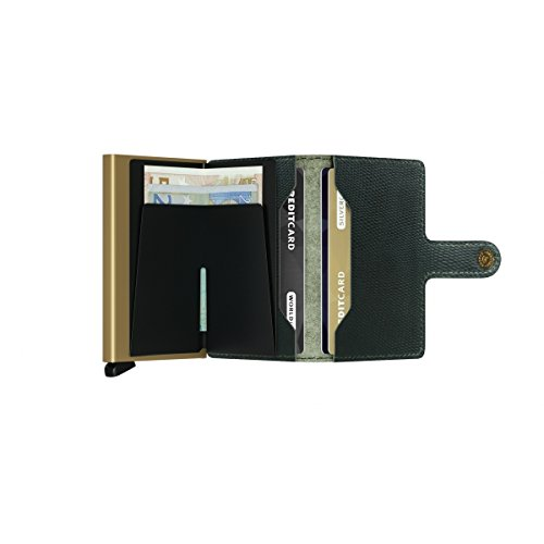 SECRID - Secrid Mini wallet Genuine Leather Rango Green Gold RFID Safe Card Case for max 12 cards by Secrid (Image #2)