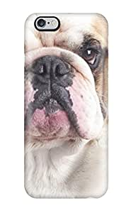 BdooXNi676cpAmq Case Cover Protector for iphone 6 4.7 English Bulldog In Bath Case(3D PC Soft Case)