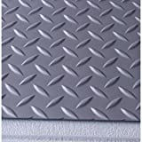 Good G Floor Diamond Tread Pattern Slate Gray 9u0027 X 20u0027 Roll Out
