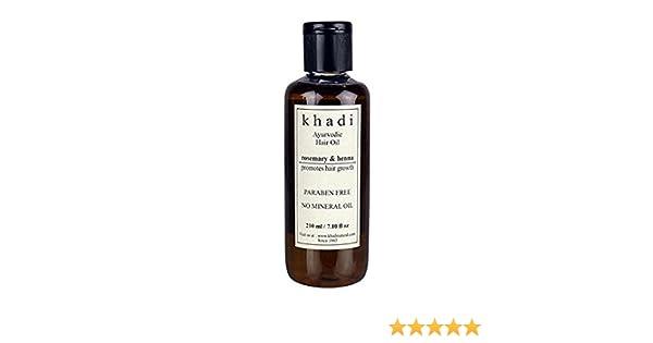 KHADI - crecimiento del pelo Aceite - Rosemary & Henna (parabenos ...