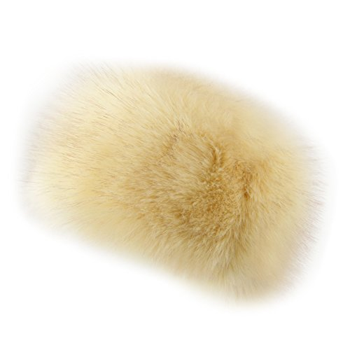 Dikoaina Faux Fur Cossack Russian Style Hat for Ladies Winter Hats for Women (S, ()