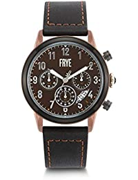 Men's Graham Stainless Steel Japanese Quartz Leather Strap, Black, 24 Casual Watch (Model: 37FR00009-02)