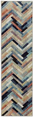 Multi Stripe Runner - Mohawk Home Cascade Heights Caftan Stripe Multi Rug, 2'1 x 7'10