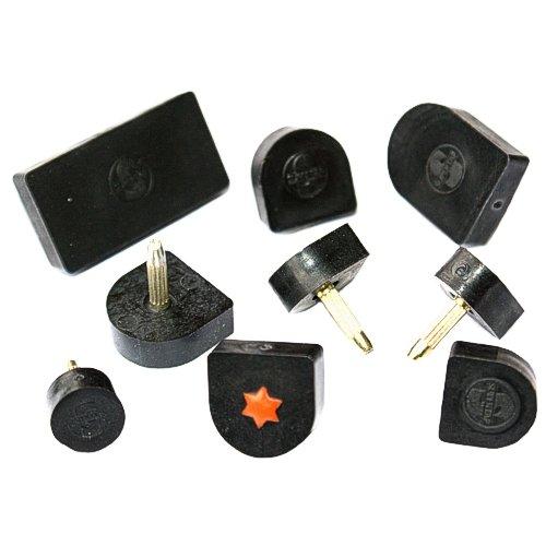 1 Paar Absätze 12 x 12mm (U-Form) schwarz Kunststoff Ersatz Absatz, Stiftflecken,N YABA GmbH