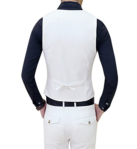 MOGU Mens Tail Tuxedo 3 Piece Suit US Size 32 White by MOGU (Image #6)