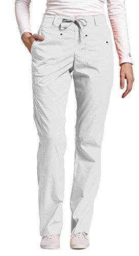 Ladies Flat Front Scrub Pants (Allure by White Cross Women's Flat Front Drawstring Pant Medium White)