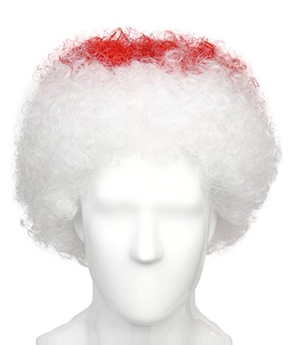 Halloween Party Online Japan National Team Country Flag Afro Cosplay Party Costume Wig, Adult - Japan Country Costume