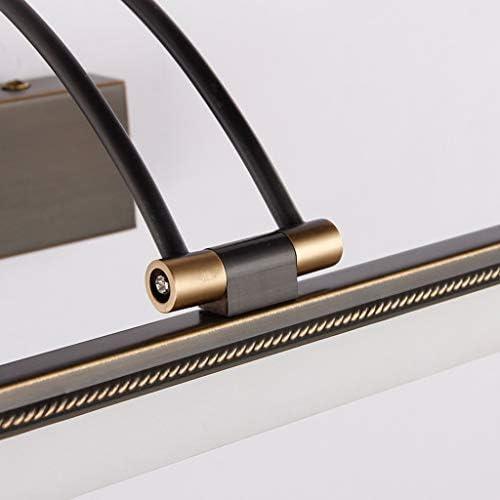 &LED Spiegelfrontlampe Einfache europäische und amerikanische All Copper geführte Spiegel-Frontleuchte Haushalts Badezimmer WC Wasserdichte Anti-Nebel-Waschbeckens Kosmetiktisch Make-up-Lampe Lampe vo