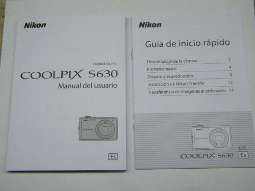 (Nikon Coolpix S630 Digital Camera Original Instruction Manual)