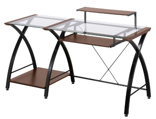 Z-Line Brisa Desk - Glass Metal Desk