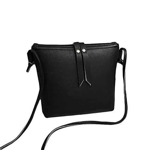 CricTeQleap Vintage Faux Leather Tassels Zipper Closure Women Shoulder Pouch Crossbody Bag - Brown Black