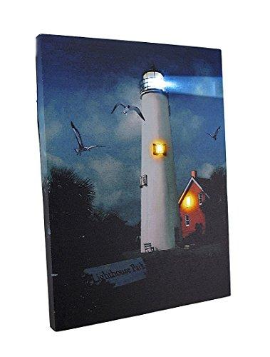 Ohio Wholesale Lighthouse Park Canvas Radiance Lighted Wall Art