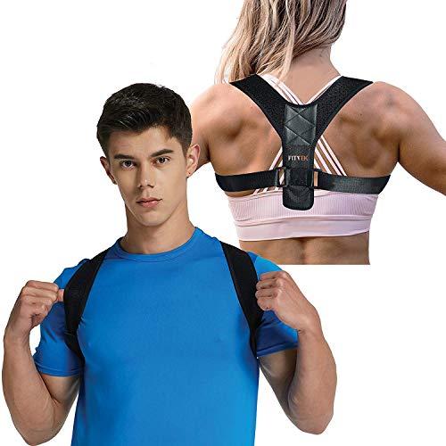 Posture Corrector Brace for Men and Women Kyphosis Back Shoulder Support by FitTek