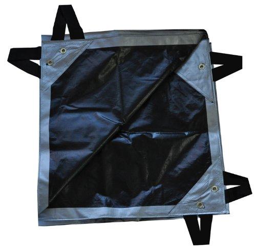 15' x 54' Dry Top Super Heavy Duty Silver/Black 12-mil Hay Tarp item #615548 (12mil Tarp)
