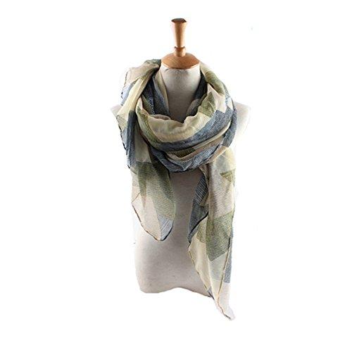 Womens Fashion Scarf (ctshow plaid Print Voile Print Scarf Fashionable Women Scarves The shawl)