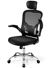 Adjustable Office Chair Ergonomic Mesh Chair High Back Computer Desk Chair with High Rebound Seat and Adjustable Headrest
