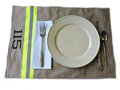 Bridal Personalized Placemats Shower - Firefighter Personalized Placemat Set