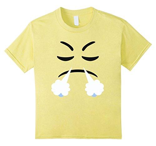 Devil Costume Steam (Kids Halloween Emoji Steam From Nose Costume T-shirt 10 Lemon)