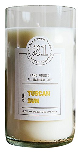 Circle 21 Candles Tuscan Sun Scented Soy Candle, Clear