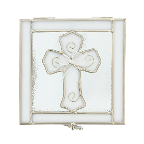 - H.J. Sherman Company Inc. Stained Glass First Communion Rosary Box