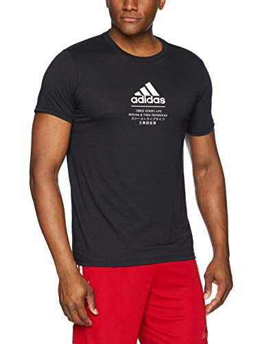 adidas Mens Athletics Badge of Sport International Tee, Black, Small