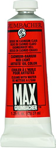 Grumbacher Max Water Miscible Oil Paint, 37ml/1.25 oz, Cadmium-Barium Red ()