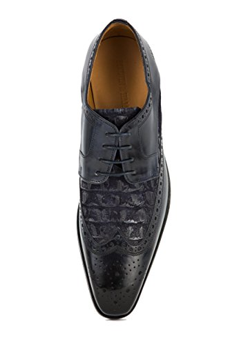 MELVIN & HAMILTON Herren Lewis 3 Budapester Business Schnürer Blau Gr. 42