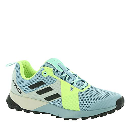 adidas outdoor Terrex Two Womens Trail Running Shoe Ash Grey/Black/Hi-Res Yellow, Size 9.5