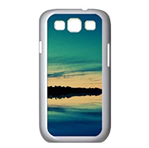 Twilight Over Lake Watercolor style Cover Samsung Galaxy S3 I9300 Case (Lakes Watercolor style Cover Samsung Galaxy S3 I9300 Case)