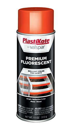 PlastiKote FL-9 Flourescent Caution Orange Premium Enamel, 1