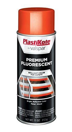 PlastiKote FL-9 Flourescent Caution Orange Premium Enamel, 12 oz.