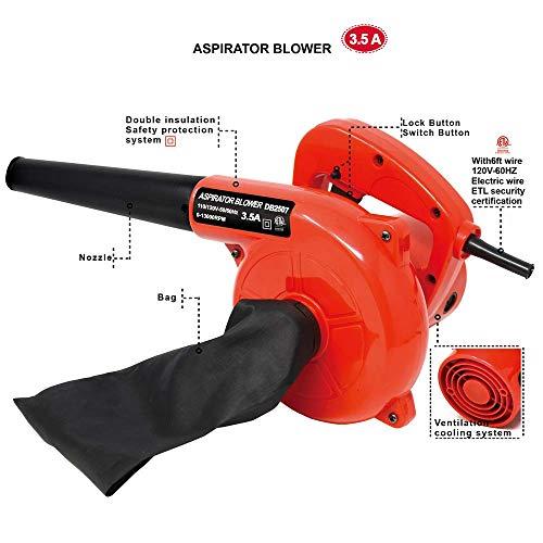 corded electric leaf sweeper vacuum