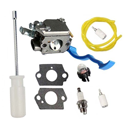 HURI Carburetor with Adjustment Tool Kit Screwdriver Primer Bulb for Husqvarna 125B 125BX 125BVX ZAMA C1Q-W37 545081811 by HURI
