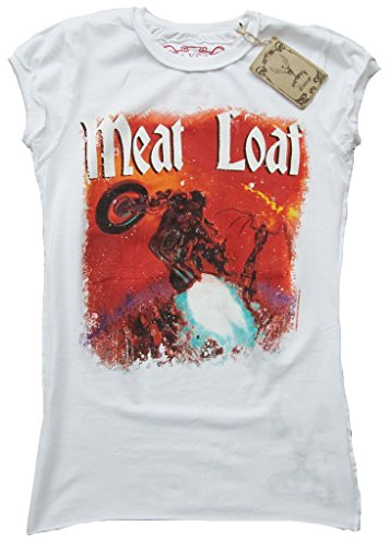 Hell shirt Amplificata Polpettone Of ufficiale T Out Bat Femme Blanc Vintage Star Rock FSqgTz