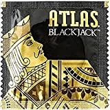 Atlas Blackjack Lubricated Bulk Latex Condoms with Silver Pocket/Travel Case-24 Count