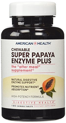 (American Health Super Papaya Enzyme Plus 180 tab)