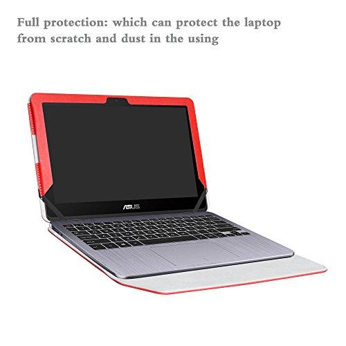 Alapmk Protective Case Cover For 11.6'' ASUS VivoBook Flip 12 TP203NA tp203na-uh01t Series Laptop(Warning:Only fit model TP203NA),Red by Alapmk (Image #4)