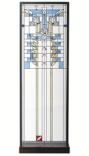 Frank Lloyd Wright Waterlilies Stained - Stained Lilies Water Glass