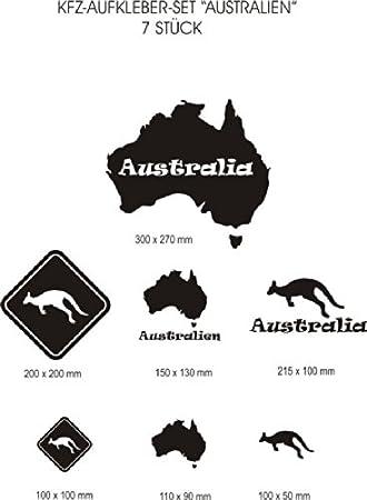 Kfz Aufkleber Set Australien 7 Verschiedene Motive