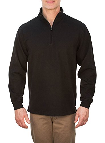 Fitzpatrick Long Sleeve Stretch French Terry Quarter Zip Pullover Black Size - Quarter French Men's Clothing