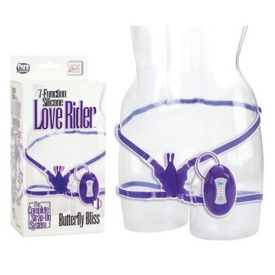 California Exotic Novelties 8 Function Silicone Love Rider Butterfly Bliss, Purple, 0.29 Pound