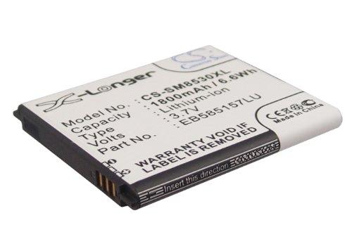 CameronSino Mobile, Smartphone Battery for Samsung Galaxy Beam Galaxy Grand Quattro Galaxy Win Galaxy Win Duos GT-I8530 GT-I8550 EB585157LU Real Capacity 1800mAh 3.7V Li-ion 1 Year Warranty -  QrxPower, SAMSUNG EB585157LU