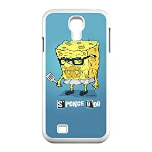 Sponge Bob Samsung Galaxy s4 9500 White Cell Phone Case GSZWLW3142 Hard Cell Phone Case