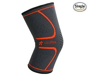 Ultra Flex Athletics Knee Compression Sleeve, Single Wrap, Small