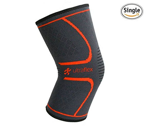 Ultra Flex Athletics Knee Compression Sleeve, Single Wrap, Medium