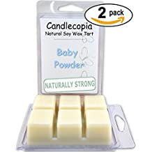 Candlecopia Strongly Scented Vegan Wax Melts, Hippy Themed 2 Packs (Baby Powder)